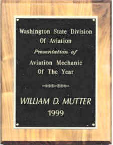 Aviation Mechanic of the Year in 1999
